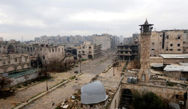 A view of the front line in Old Aleppo, Syria, January 4, 2015.