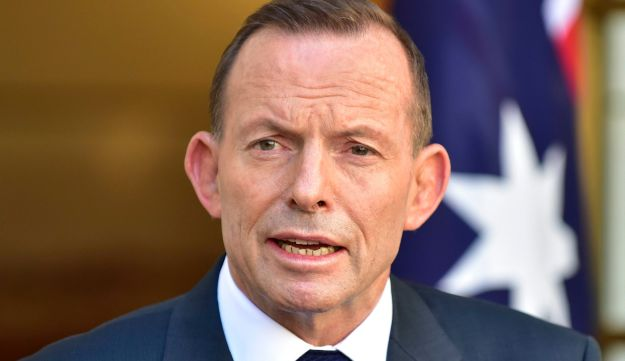 Outgoing Australian Prime Minister Tony Abbott speaks during a press conference at Parliament House