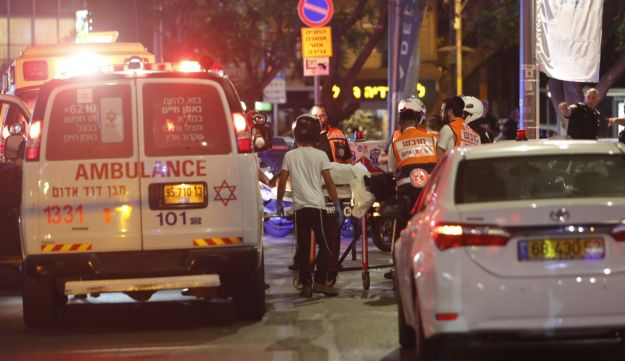 The scene of a shooting in food and retail center Sarona Market, Tel Aviv, Israel, June 8, 2016.