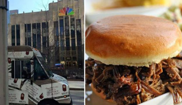 Milt's Barbecue Truck near the NBC building in Chicago.