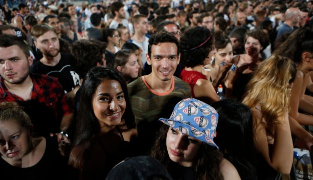 The audience at Kanye West's concert in Israel, September 30, 2015.