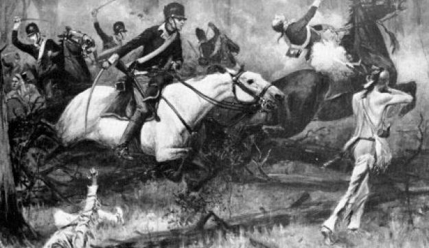 The Battle of Fallen Timbers, by R. F. Zogbaum, from Harper's Magazine, 1896.