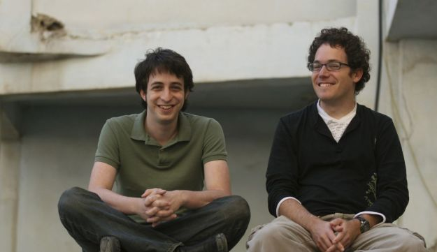 Yoni Bloch, left and Barak Feldman,founders of the Interlude interactive-video startup company in Israel.