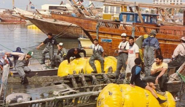 Members of the Kuwait Dive Team.