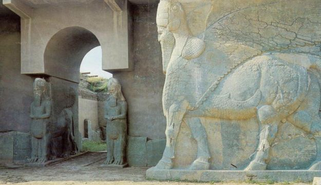The palace in Nimrud, where the first reference to the Kingdom of Judah was found.