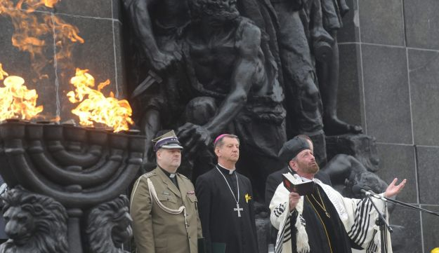Commemorating the Warsaw Ghetto Uprising, April 19, 2013.