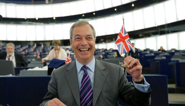 Nigel Farage, leader of the United Kingdom Independence Party and a member of the European Parliament in Strasbourg, France, June 8, 2016.