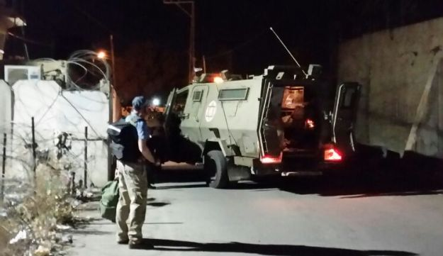 The scene of the attack in front of Hebron's House of Contention, October 20, 2015.