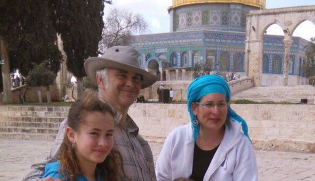 13-year-old Hallel Yaffa Ariel With her family.