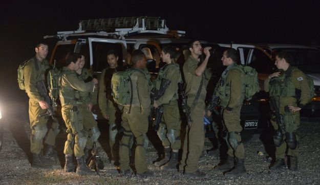 IDF forces in the Golan Saturday night, October 24, 2015.
