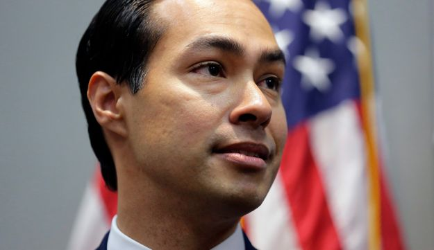 Housing and Urban Development Secretary Julian Castro takes part in a news conference at the Texas Democratic Convention, Friday, June 17, 2016, in San Antonio.
