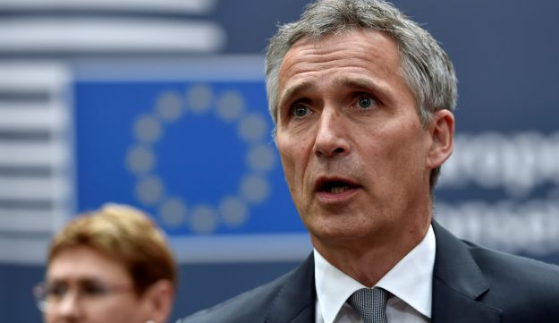 NATO Secretary General Jens Stoltenberg arrives before an EU summit meeting at the European Union headquarters in Brussels, June 28, 2016.