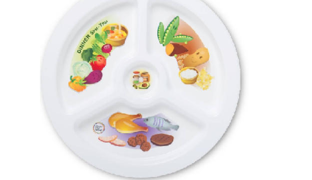 The Plate My Meal set shows time of meal, type of food and portions, too.