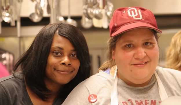 Karra Beck, left, works at Altamont every week, and Mary Nixon is a former employee.