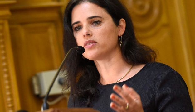 Israeli Justice Minister Ayelet Shaked delivers a speech during a conference in Budapest, Hungary, Monday, June 6, 2016.