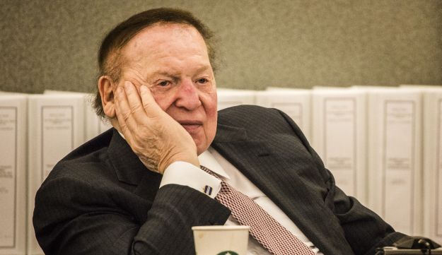 Las Vegas Sands Corp. Chairman and CEO Sheldon Adelson testifies at Clark County Justice Center on Tuesday, April 28, 2015, in Las Vegas.