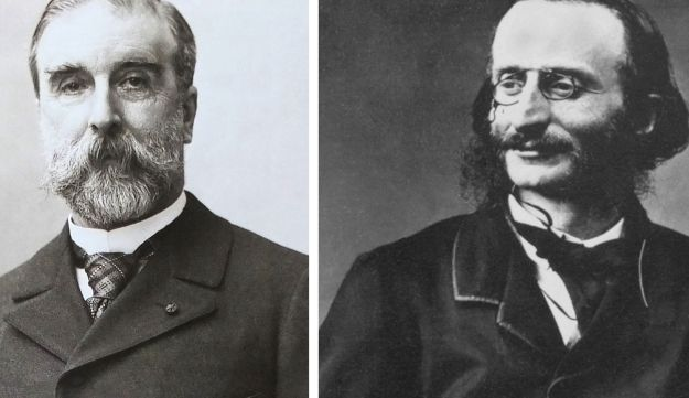Ludovic Halévy photographed by Paul Nadar and Jacques Offenbach photographed by Félix Nadar.