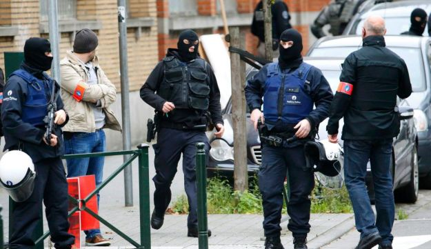 Belgian police conducting searches on Monday for possible terror suspects in the Molenbeek district of Brussels, where there is a huge Islamic population.