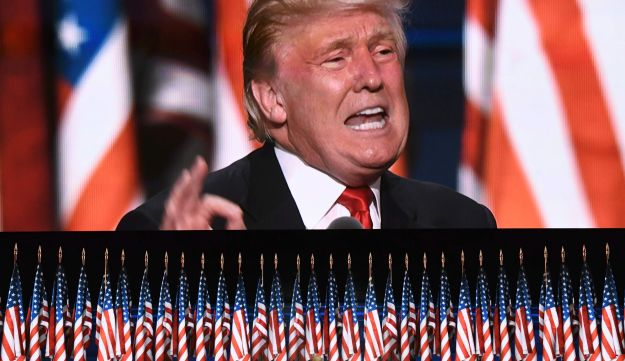 U.S. Republican presidential candidate Donald Trump speaks on the last day of the Republican National Convention in Cleveland, Ohio, July 21, 2016.