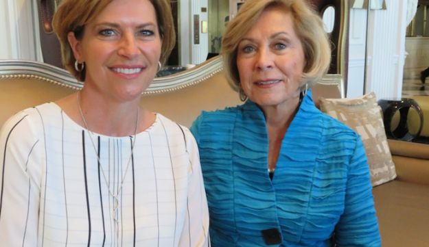 Dori Fenenbonk, left, running for Congress in Texas' 16th District in the El Paso area, poses in Washington with her mother, Pat Lama, on July 27.