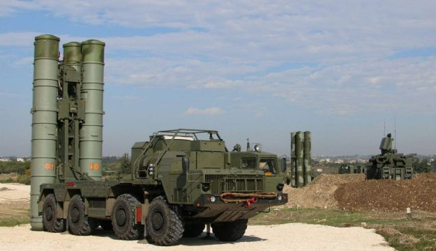 Russia's S-400 air-defense missile systems are stationed at the Hmeimim airbase in Syria on Nov. 26.
