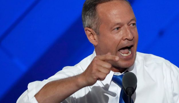 Former Governor of Maryland Martin O'Malley speaks on the third day of the Democratic National Convention in Philadelphia, Pennsylvania, U.S. July 27, 2016.