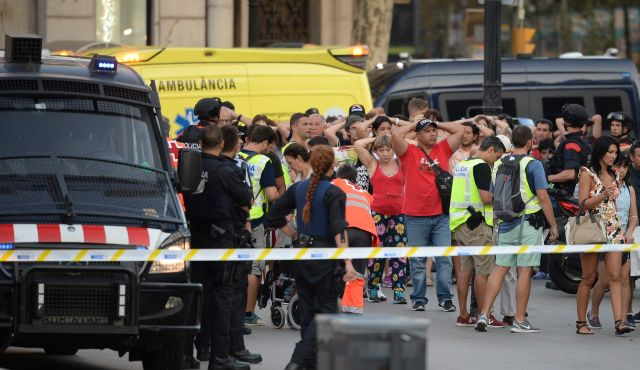 66084d4653 Barcelona attack  Van crashes into crowd killing 13  ISIS claims attack
