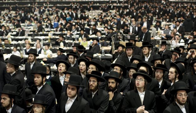 Satmar Hasidic Jews attend a mass gathering in the Brooklyn borough of New York December 2, 2015.