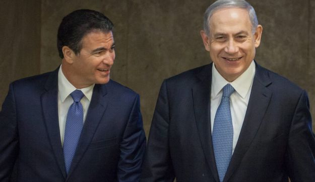 Netanyahu with Mossad chief Yossi Cohen, September 2015.