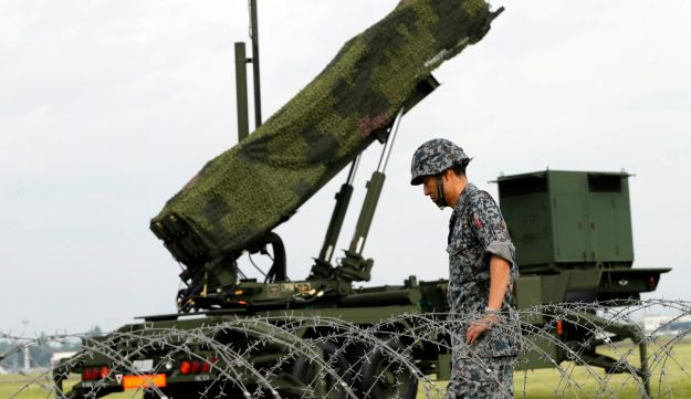 Japan's missile defense system's first layer are interceptors on destroyers in the Sea of Japan, and if they fail, surface-to-air PAC-3s, as shown here at the U.S. Yokota Air Base outside Tokyo. Aug. 29, 2017