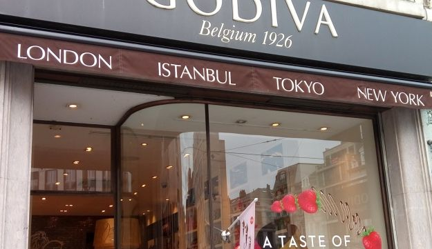A Godiva Chocolatier Inc. store on Stapany Square in Brussels.