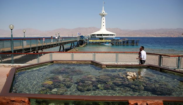 The underwater observatory in Eilat, August 16, 2016.