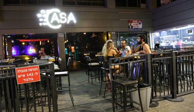 The Casa bar in Eilat. No danger of exceeding its limit of 142 customers on a quiet Sunday night.