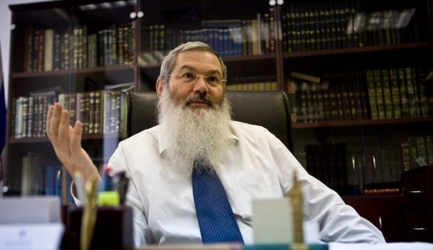 Eli Ben-Dahan in a photo from 2010, when he was head of the Rabbinical Courts.