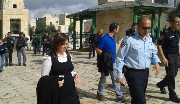MK Tzipi Hotovely visiting the Temple Mount in 2014.