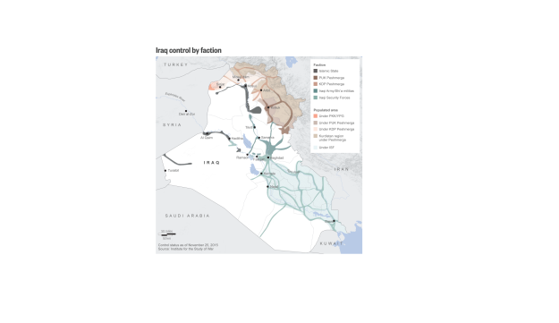 Inforgraphic: Iraq control by faction