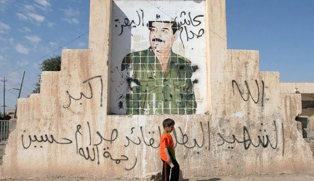 One of the thousands of pictures of former president Saddam Hussein that once dotted the country. This painting was in Tikrit in 2007, four years after Saddam's fall.