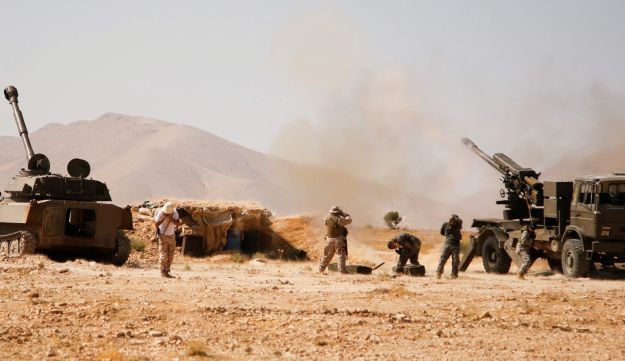 Hezbollah fighters operating in Western Qalamoun, Syria, August 23, 2017.