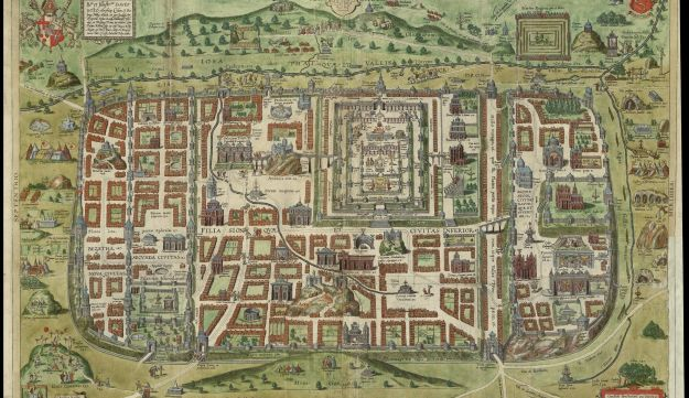 Old maps of jerusalem combine the sacred with the realistic israel jerusalem and its suburbs as it was in the time of jesus by adrichem gumiabroncs Image collections