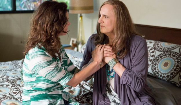 """Jeffrey Tambor, right, and Amy Landecker appear in a scene from """"Transparent."""""""