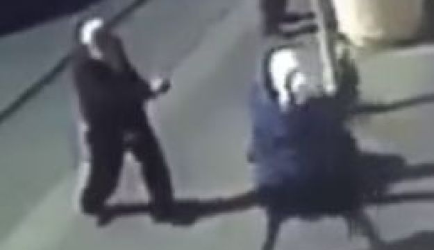 Screengrab from video of Jerusalem stabbing attack in Mahne Yehuda Market by 16 and 14-year-old Palestinian teens.