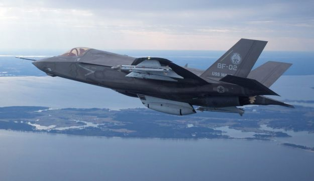 An F-35 fighter jet.