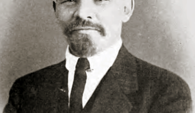 Photograph of Lenin taken in Switzerland in 1916, during his exile in the country.