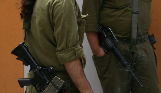 Israel army reservists on a base, May 2006.
