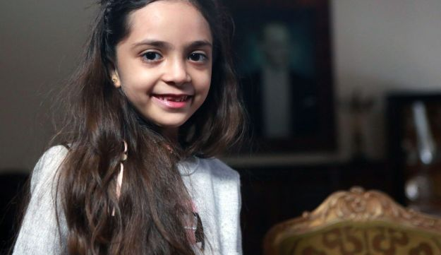 This file photo taken on December 22, 2016 shows Syrian girl Bana al-Abed, known as Aleppo's tweeting girl, posing during an interview in Ankara.