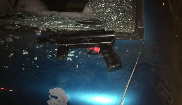 A 'Carlo' rifle found in the vehicle of an assailant who fired at Israeli soldiers in the West Bank on Wednesday, January 25, 2017.