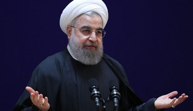 Iranian President Hassan Rohani speaking at a conference in Tehran, on January 28, 2017.