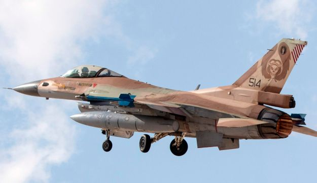 An Israeli air force F-16C,at the Ovda air force base, on November 8, 2017