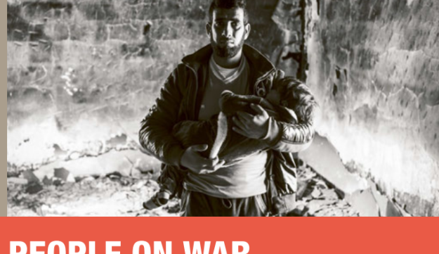 """The cover of the Red Cross report """"People on War,"""" published December 5, 2016."""