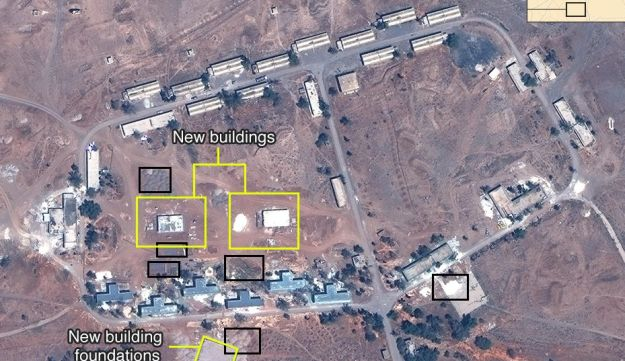 The Iranian compound showing additional construction in May, 2017.